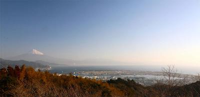 日本平から見おろす三保松原