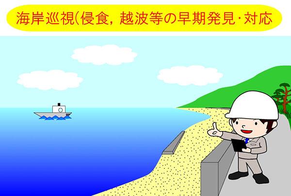海岸巡視(侵食、越波等の早期発見・対応)